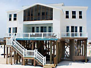 Dauphin Island Beach Rentals 4 br /no pets/no pool/ on beach (12,300)
