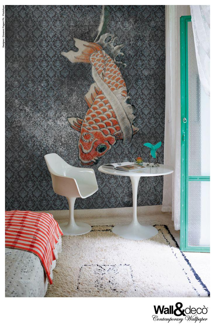 Tangerine Reloaded #wallpaper #wallcovering #cartadaparati #wallanddeco www.wallanddeco.com