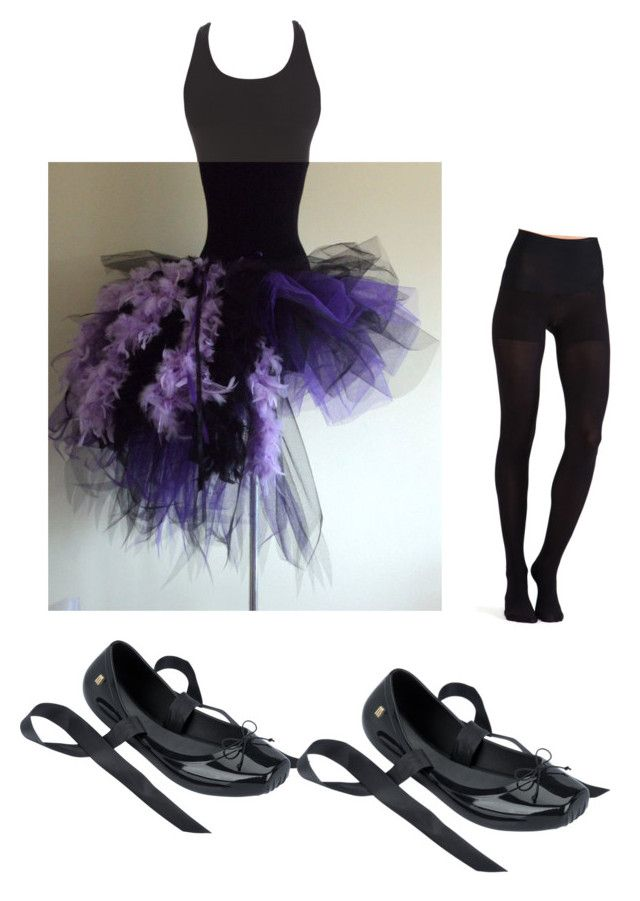 Zombie ballerina halloween costume by coxzoie on Polyvore featuring Commando and Melissa