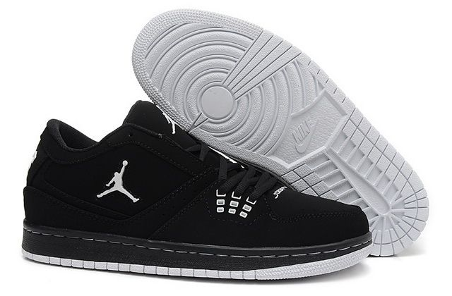 bbff2c04df980f Newest Jordan 1 Flight Low Black White Discount Sale ...