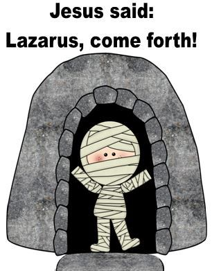 17 best images about lazarus lessons on pinterest fun for Jesus brings lazarus back to life coloring page