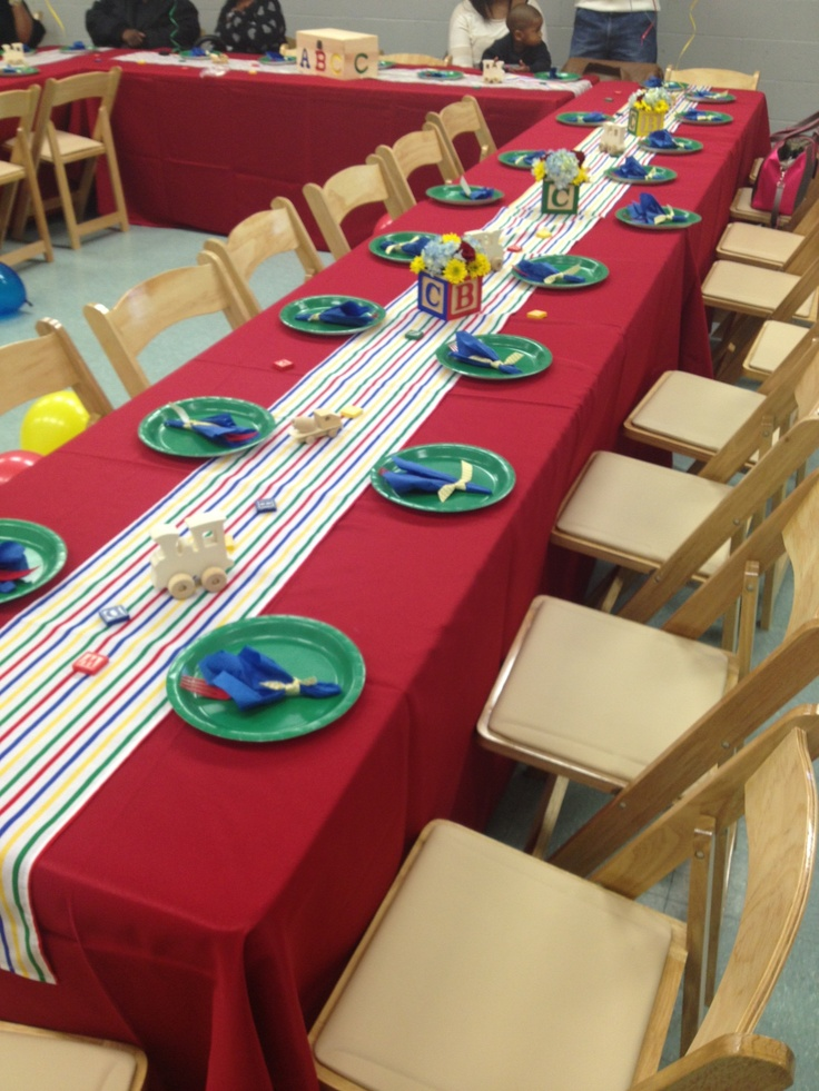 Tables from our Vintage Toy Baby Shower #BBH #AgapeAffairs