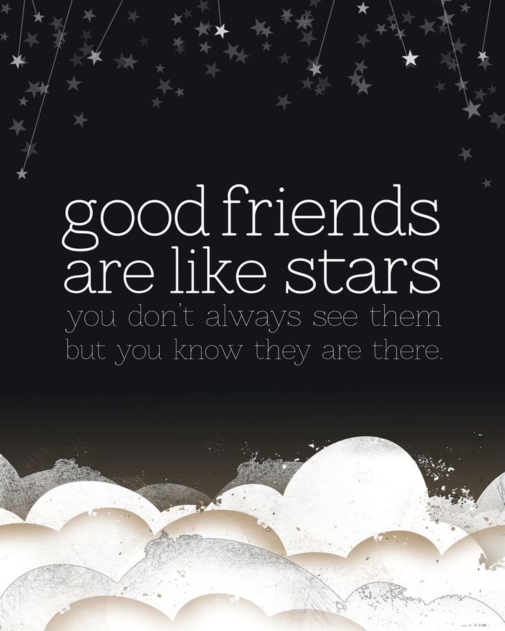Good Friends are Like Stars Giclee Friendship quotes