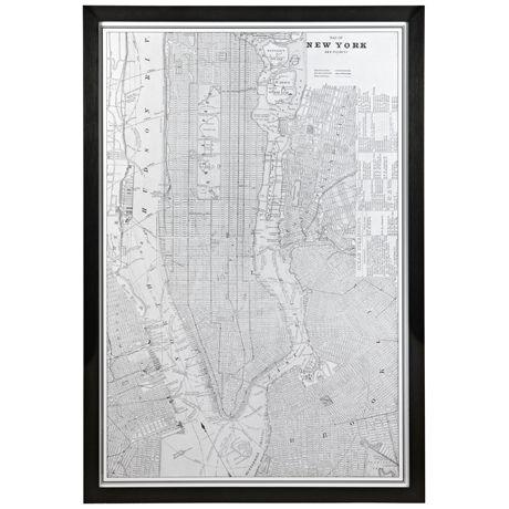Map of Manhattan Print 130x86cm :: Freedom :: $399