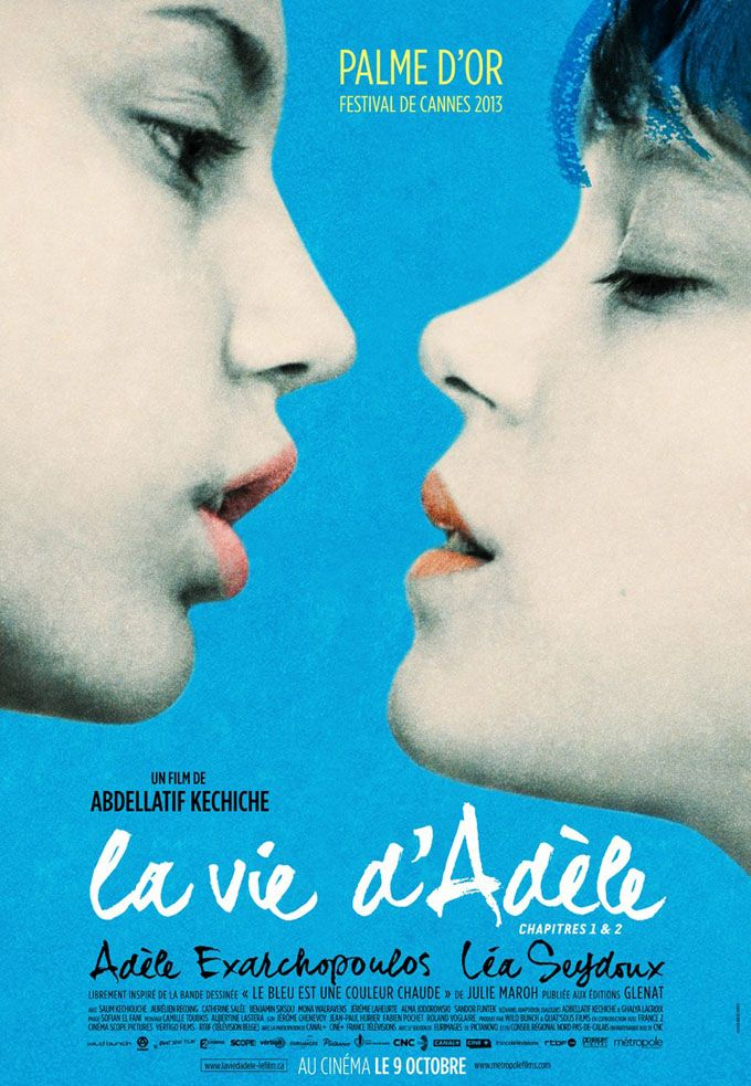 French poster for 'Blue Is The Warmest Color