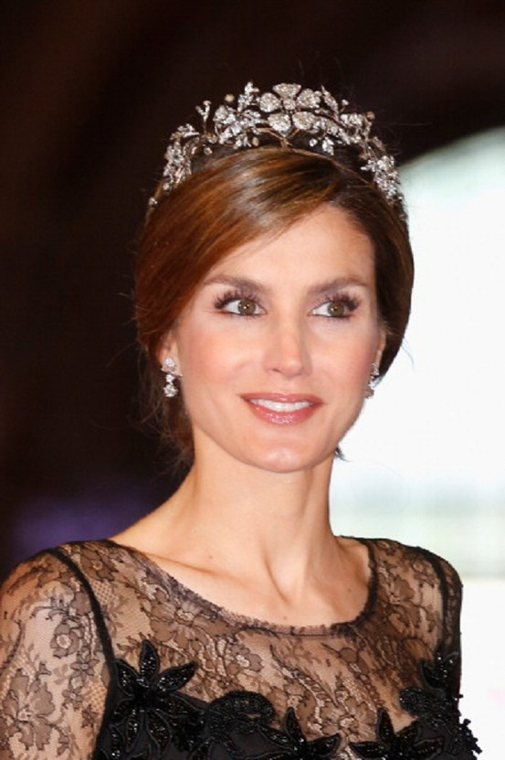 Princess Letizia of Spain attends the 2013 Royal-dinner hosted by Queen Beatrix of The Netherlands ahead of her abdication