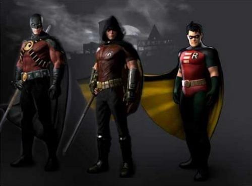Batman arkham city костюмы бэтмена и персонажи