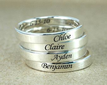 SALE  Petite and Dainty Personalized Stackable Ring  Name