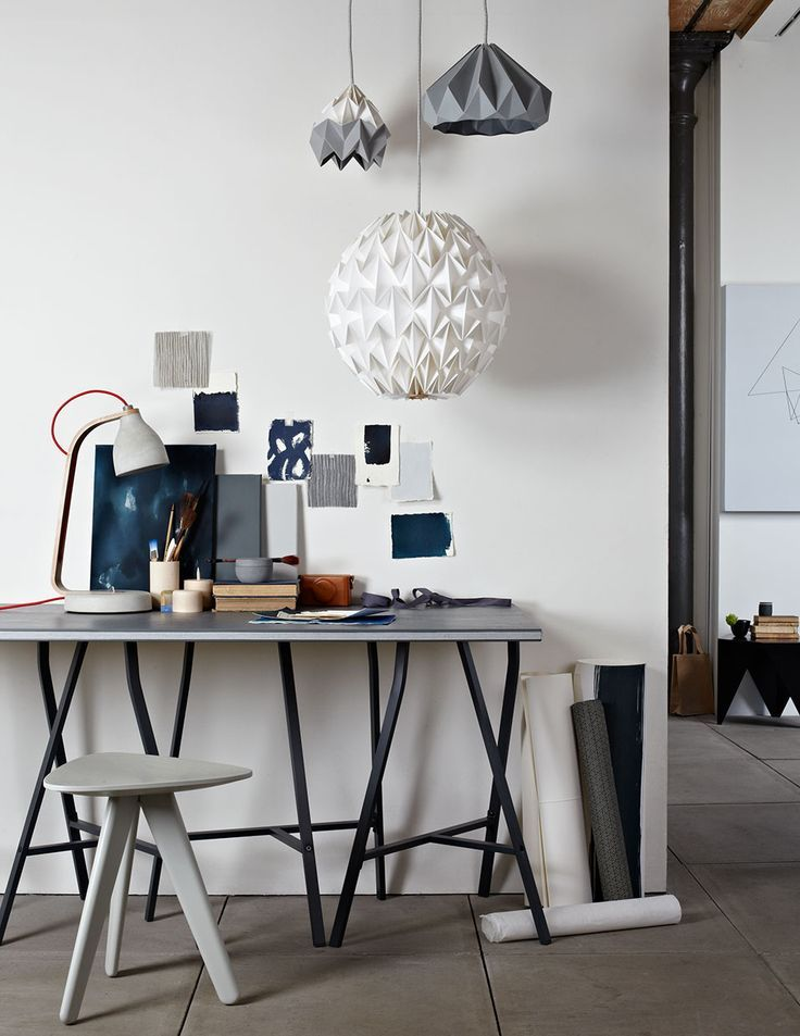 Navy and grey desk. Styling Sania Pell.