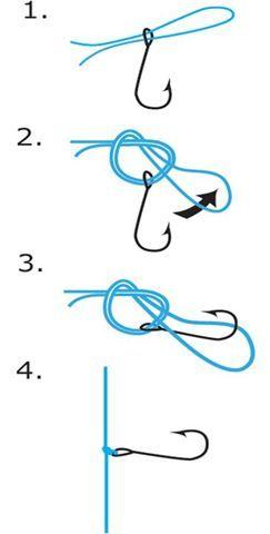 Tying a drop shot hook