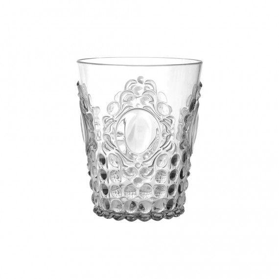 Transparent BAROQUE /& ROCK Lot de 6 verres /à vin en acrylique BACI