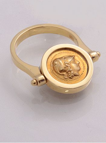 Silver Gold Coin Ring