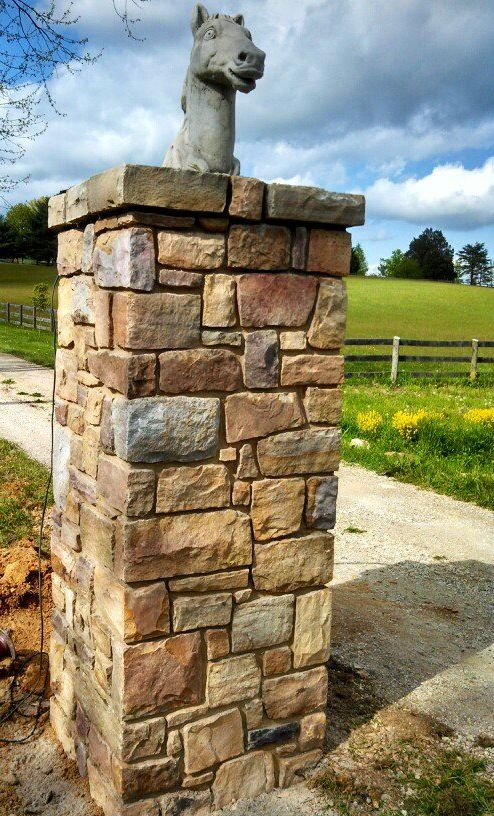 Stone Gate Pillars : Stone gate column by cornerstone masonry