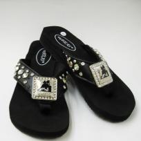 new ladies size 8 flip flops black cowboy concho $38.00Black Cowboy, Flip Flops