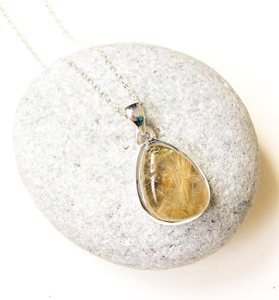 rutilated quartz ring 925 sterling silver ring Teardrop Golden Rutilated Quartz Floral Ring quartz jewelry boho jewelry