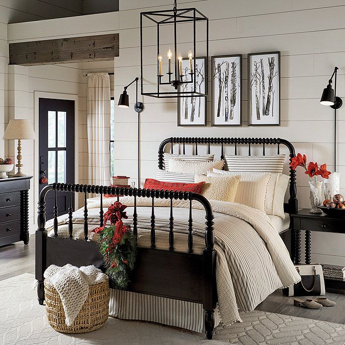 Savoy Spool Bed in 2020 Spool bed, Ticking stripe