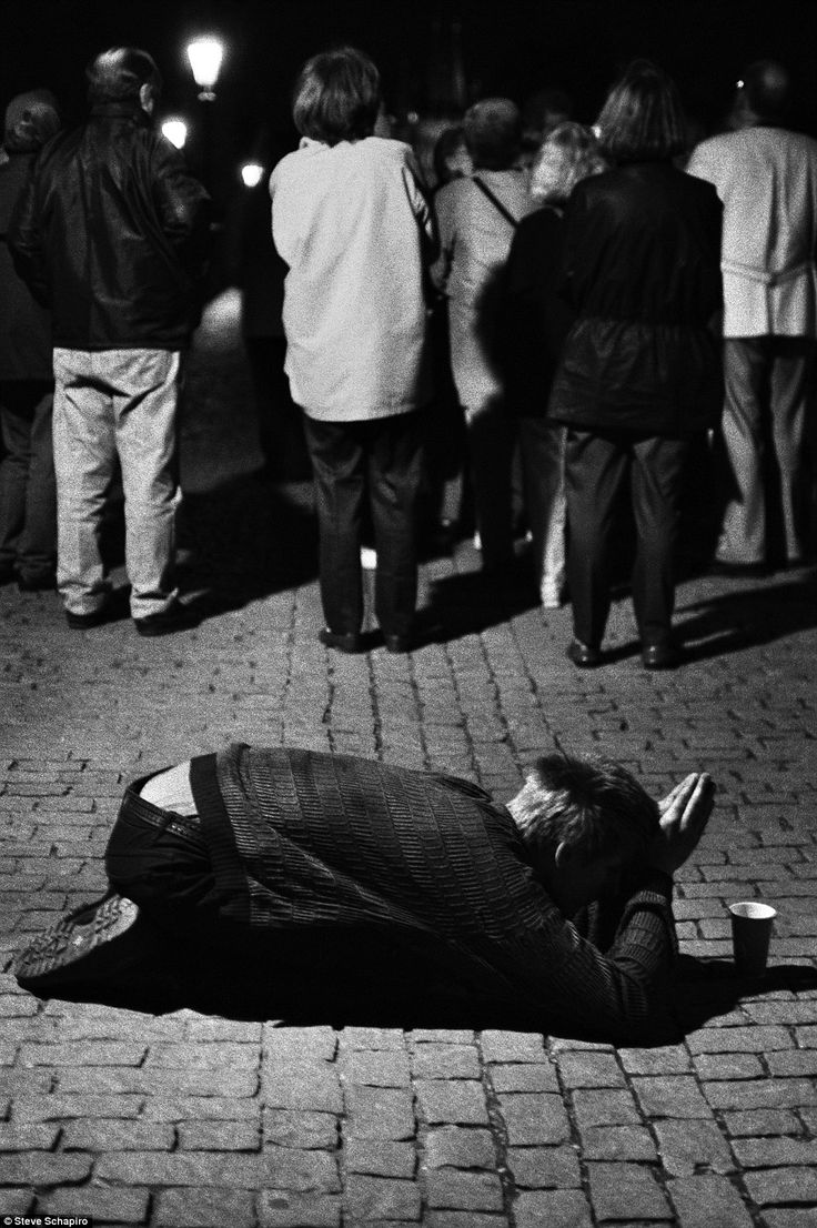 Turned their back on him: Young beggar is ignored in Prague    Read more: http://www.dailymail.co.uk/news/article-2238463/Steve-Schapiro-book-The-stunning-collection-published-pictures-legendary-American-photographer-Steve-Schapiro.html#ixzz2DLwxWPpy  Follow us: @MailOnline on Twitter | DailyMail on Facebook