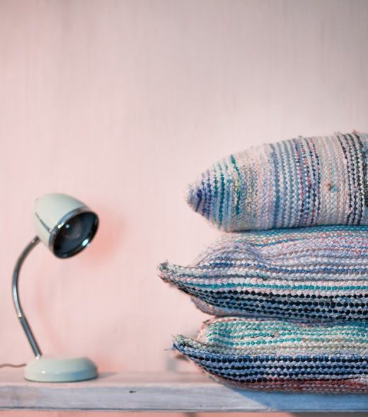 Räsymatto rag rug pillows