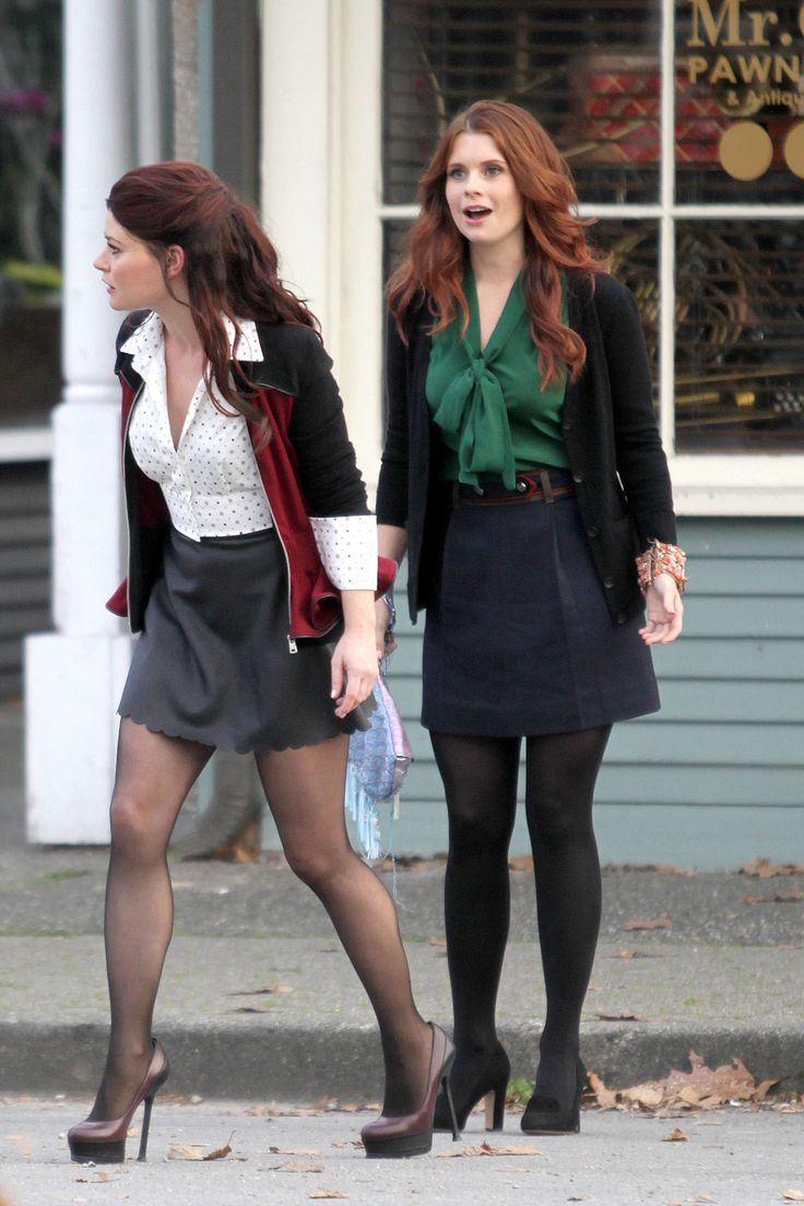 Once Upon a Time- Emilie de Ravin and JoAnna Garcia shoot scenes in Steveston Village, Richmond BC.
