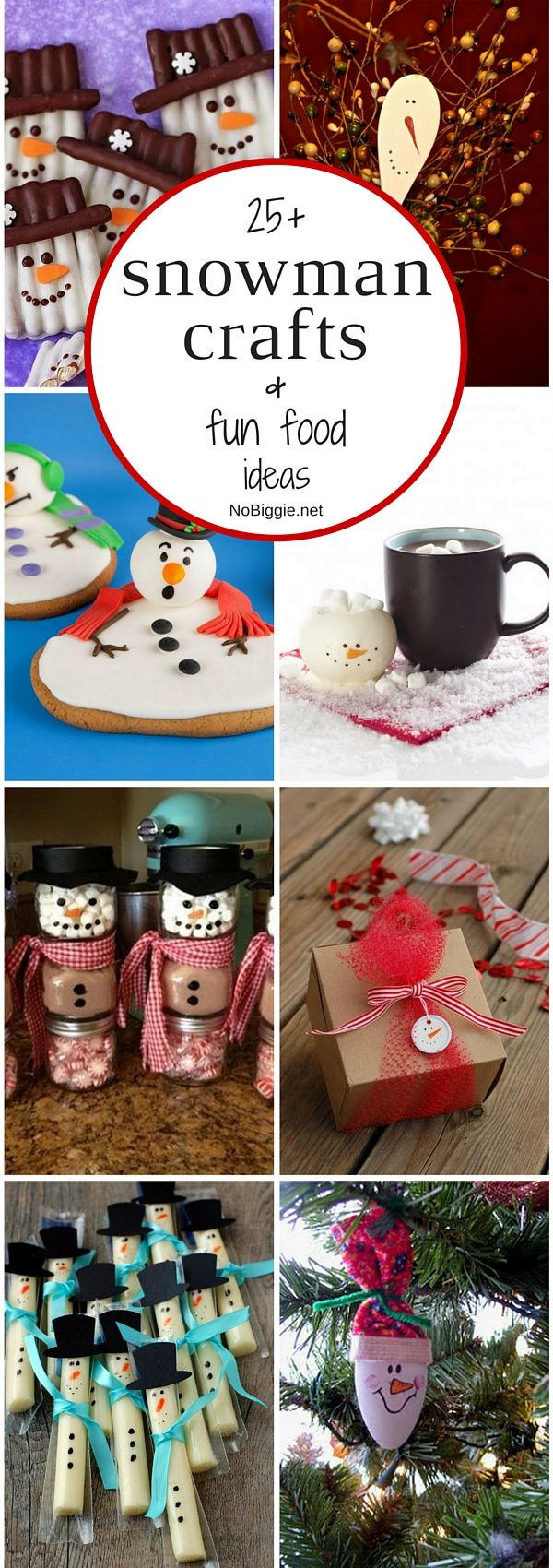 25+ snowman crafts and fun food ideas | Crafts, Food ideas ...