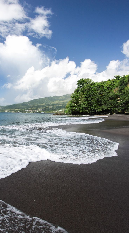 Martinique | An utterly unique black sand beach makes this Caribbean-based destination a mandatory bucket list location.
