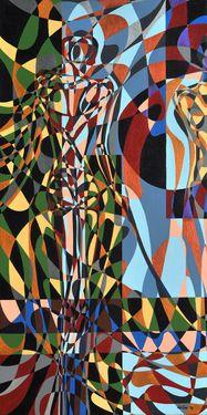 "Saatchi Art Artist Graziella Coi; Painting, ""Questa giungla mi distrugge (1 di 3)/ This jungle destroys me (1 of 3)"" #art"