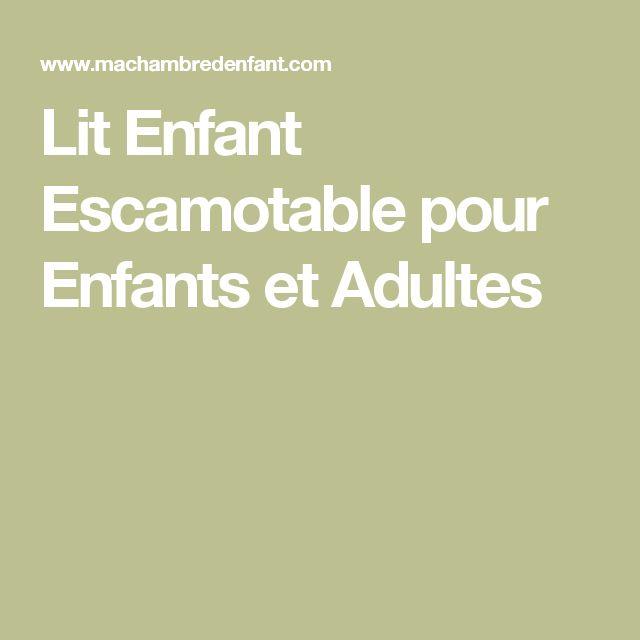 Lit Enfant Escamotable pour Enfants et Adultes