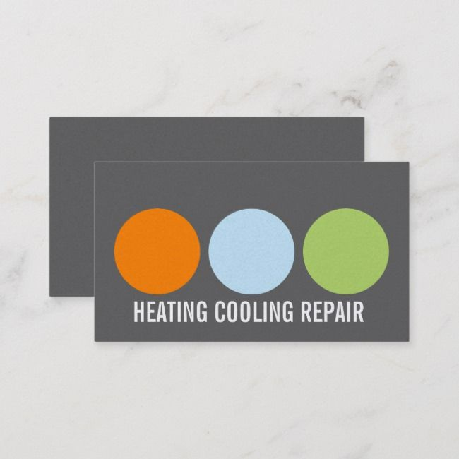 Heating And Air Conditioning Repair Business Card Zazzle Com In
