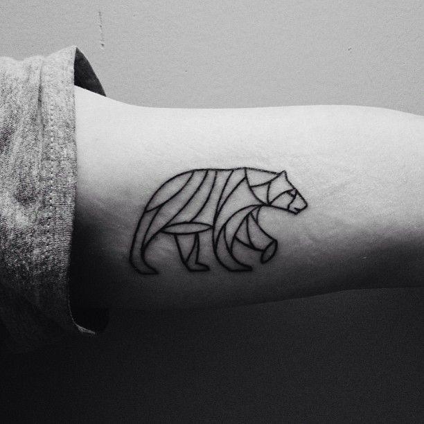 #bear #tattoo Illustration: Scott Allen Hill. Tattoo: Ben at American Tattoo.