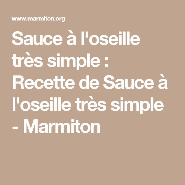 Sauce à l'oseille très simple : Recette de Sauce à l'oseille très simple - Marmiton