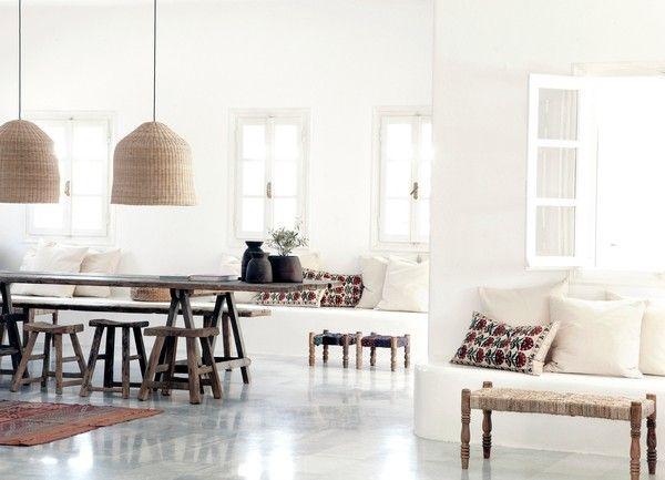 Bloomingville interiors at San Giorgio Hotel, Mykonos, Greece http://www.sangiorgio-mykonos.com/#