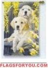 Golden Retriever Pups Garden Flag - 1 left