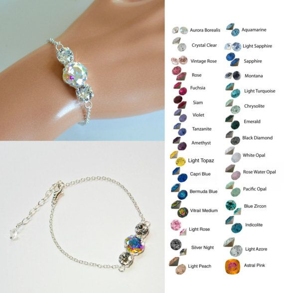 Choose Your ColourHandmade Swarovski Triple Crystal