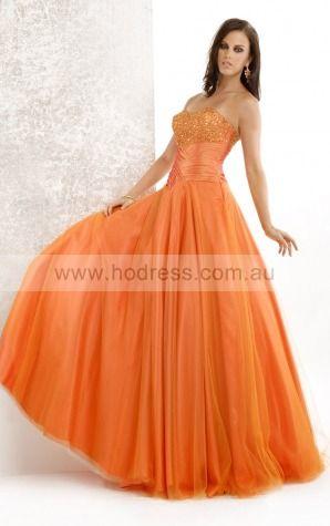 Sleeveless Lace-up Sweetheart Floor-length Taffeta Evening Dresses dt00066--Hodress