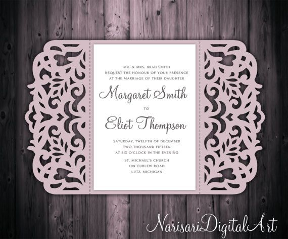 8 best svg images on pinterest weddings bridal invitations and 5x7 gate fold wedding invitation card template quinceanera invitation laser cut svg cutting file silhouette cameo cricut template stopboris Choice Image