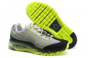 Uitverkoop Hardloopschoenen Nike Air Max 95 DYN FW Heren Wit Zilver Zwart Fluorescerend Groen Kopen