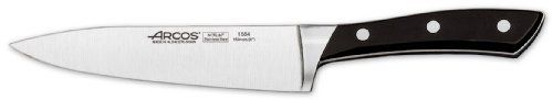 Arcos Forged Terranova 6-Inch Kitchen Knife by Arcos. $61.99. Precise cutting tool used by professional chefs worldwide. Made of hardened and tempered forged nitrum stainless steel. State-of-the-art made blade ensures high cutting power ( over 100 mm ) and long edge retention (over 350 mm). Arcos Terranova 6-1/2-inch (160 mm) forged kitchen knife specially designed for cutting, chopping fruits, vegetables and other products. Features an ergonomic and elegant d...