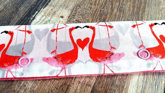 DPN FELT HOLDER Pink Flamingo Love Heart Knitting Crochet