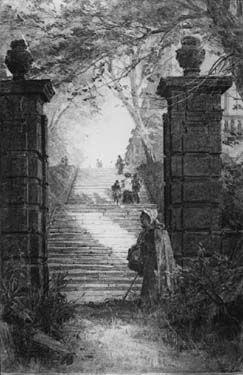 Terrace Steps, the Castle, Nottingham, 1885
