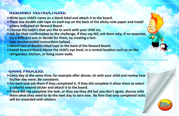 Kids habit instructions 4/6