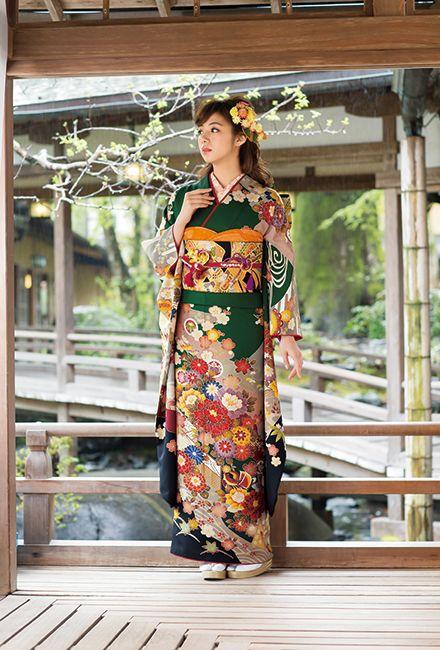 NO.1615 正絹 京友禅|成人式の振袖販売、振袖レンタルの京都きもの友禅