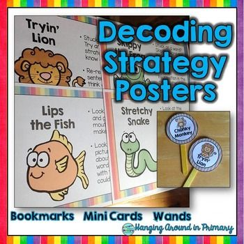 This Decoding Strategies resource in a rainbow design includes a variety of resources using the popular Beanie Babies to teach decoding strategies. This resource includes posters, mini cards, bookmarks and popsicle stick toppers with the 7 decoding strategies, using characters your