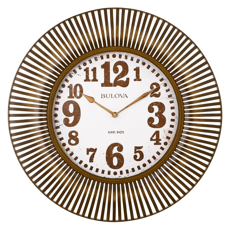 Bulova 28.5 diam. Sunburst Wall Clock - C4843
