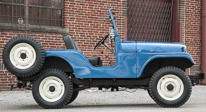 Restored 1955 Willys Jeep found in a local barn.