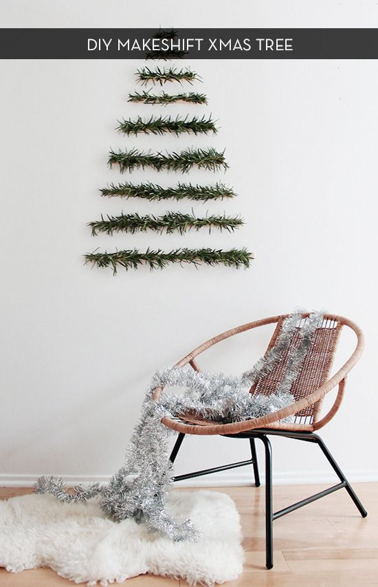 Make this modern and clean xmas tree wall hanging by Almost Makes Perfect!