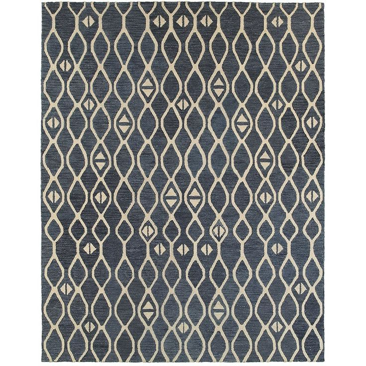 World Menagerie Anatole Hand-Crafted Blue Area Rug & Reviews | Wayfair