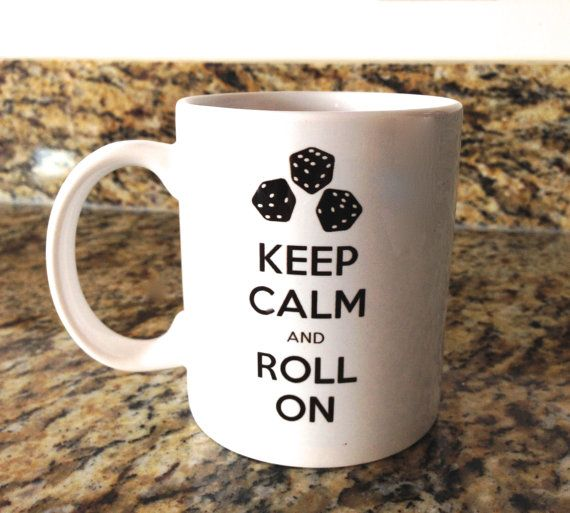 Keep Calm and Roll OnPerfect Bunco prize or by EllaBrookeDesigns                                                                                                                                                     More