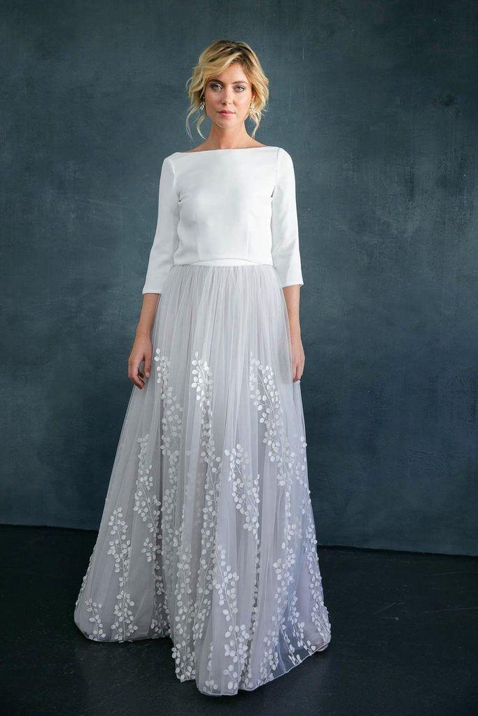 Abnehmbarer Braut Uberrock Mit 3d Blatter Tull Lillith Verfuherische Brautkleider Kleid Hochzeit Hochzeitskleid