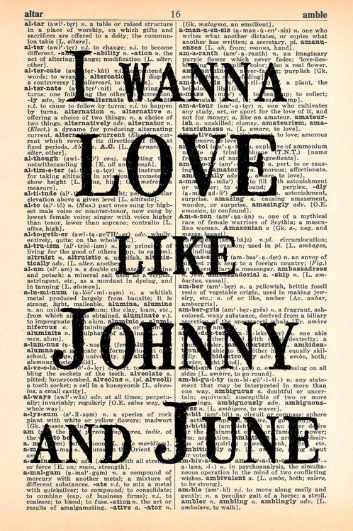 i want to walk the line until the end of time...