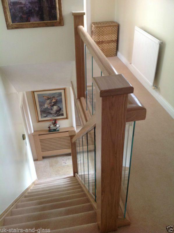 Glass and Oak Balustrade - Refurbishment Kit Staircase and Landing